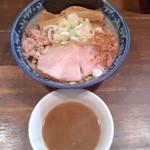 兎に角 松戸店 - 兎に角(千葉県松戸市根本)油そば小盛(200g)割りスープ付730円