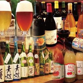 お飲み物も、山梨や近県産のものを厳選した品揃え!
