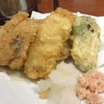 なかむら - 対馬産穴子の天ぷら。