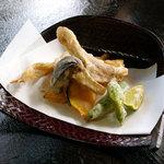 松茸山 別所和苑 - 松茸の天ぷら