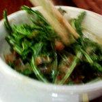 谷川ラーメン - こごみの小鉢