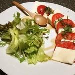 38967616 - トマトと豆腐のサラダ、お洒落です