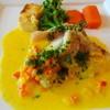 日比谷松本楼GRILL - 料理写真:カサゴのワレ サフランソース