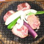 Loft倶楽部 - 生ラムと野菜、炭火焼きその1