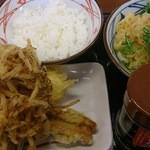 38971639 - 釜玉+天丼ごはん+天婦羅