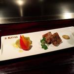 38979285 - ナスとパプリカのマリネ、牛肉の煮こごり