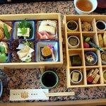 醐山料理 雨月茶屋 - 二段を広げました