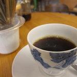 豆工房コーヒーロースト - サービスの珈琲。ヨーロピアンブレンド、おいしかったです。