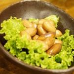 やきとん 木々家 - ゆでピーナッツ(300円)(2012/9)