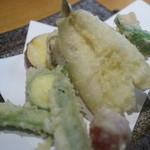 志趣饗粋 蕎麦 鷲ひら - 天然キスの天ぷら