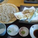 志趣饗粋 蕎麦 鷲ひら - 江戸前あなごの天ぷらせいろ