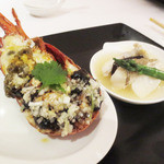 38986245 - 周中特製 旬の海鮮料理二種(伊勢海老と白身魚)