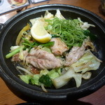38986328 - 鶏せせり塩タレ鉄板焼き(¥540)