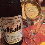 クイーンガーデン - 瓶ビールはあまり出ないのか、今年の1月生産のスカイツリー瓶が出てきました笑