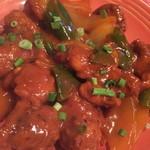 クイーンガーデン - インド風酢豚のようなチキン揚げ。