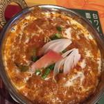 クイーンガーデン - チキンティッカマサラカレー。特別なスパイスを入れた窯焼きカレーだそうで