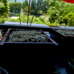 Koshikiteuchisobaizumi - テラス席から金鱗湖方面を望む