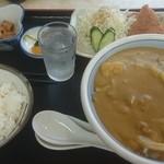 38993075 - カレーうどん定食(1,130円、メンチカツ)(2015.6変更)