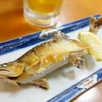 みやそい - 2014年11月 アユ塩焼き【700円】きれいな黄金!
