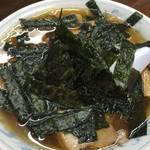 湯村食堂 - 海苔メンマラーメン
