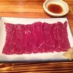 みの家 - 桜肉刺身を生姜と生姜醤油で