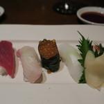 XEX ATAGO GREEN HILLS / tempura & sushi An - 鮨5貫