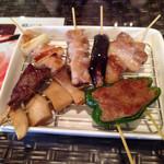 木更津クラゲ - オイル串焼き盛り合わせ