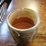 蕎麦 ふじおか - 蕎麦茶。