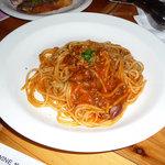 アローラ - ホタルイカとフキノトウの軽いトマトソーススパゲッティ