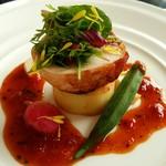 39003384 - 国産鶏のバロティーヌ トマトとハーブ風味のジュドヴォラーユ