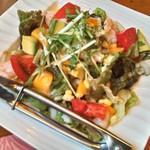 39005096 - 完熟マンゴーとぷりぷり海老のサラダ♪