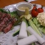 39006407 - バーニャカウダとお肉
