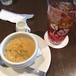 ル サロン ド ニナス - セットのスープとアイスブレックファースト