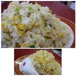 39010475 - ◆炒飯もぼボリュームありますね。                       お味付けは少し薄いですが、好みのお味です。辣油を少しかけると、美味しくいただけました。
