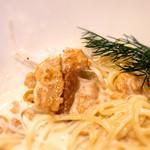 カバルッチョベルデ - 生ウニと白ネギのスパゲッティクリームソース