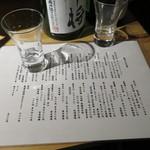 39011887 - 福島のお酒がギッシリのメニュー