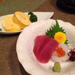うなぎ料理 う玄武 - 刺身と出汁巻き