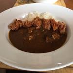 curry cafe SABURO - ★サブローカレー=580円 ⚫︎トッピング 唐揚=220円 ⚫︎大盛ご飯=+200円