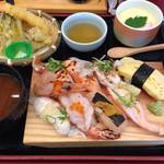 回転寿司 寿し一貫 - 料理写真:炙りランチ#寿司一貫