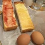 コメダ珈琲店 - トーストはバタ&イチゴジャムから選べます