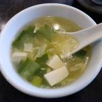 田燕居 - ランチはスープがセルフサービスで付きます