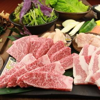 約100種類の多彩な部位のお肉をご用意!