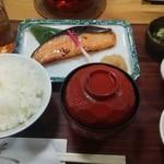 京粕漬 魚久  - さけ京粕漬定食1188