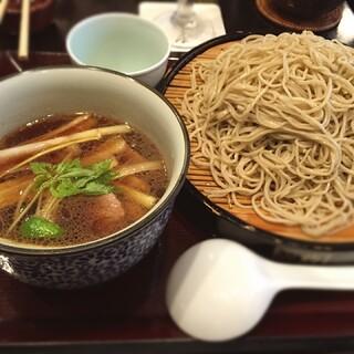 上野藪そば - 鴨せいろ蕎麦大盛