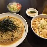 醐楊山 - のり冷やし+半マーボー丼(700円)