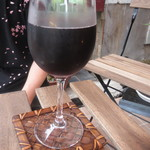 Cafe 笑壺 - 赤ワイン&炭酸のカクテル