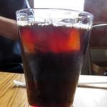 アフターグロウ - +200円で、アイスコーヒーを注文しました。       注文が入ってから淹れるコーヒーは量もたっぷりで美味しかったです。