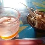 しまうた - 料理写真:泡盛 島唄  と  島らっきょう漬け
