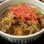 なか卯 - 牛丼(並盛) ¥350 紅しょうがのせ