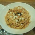 39038209 - ナスとチーズのトマトパスタ(ランチ)